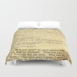 Jane Eyre, Mr. Rochester First Marriage Proposal by Charlotte Bronte Duvet Cover