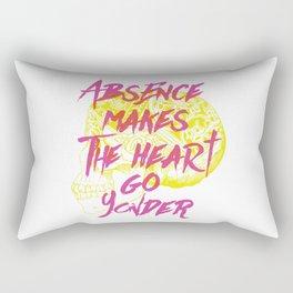 Absence makes the heart go yonder Rectangular Pillow