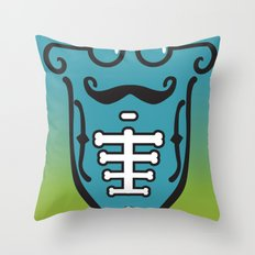 Skelebeard Throw Pillow