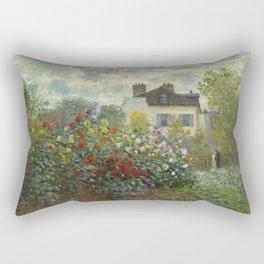 """Claude Monet """"The Artist's Garden in Argenteuil"""" Rectangular Pillow"""