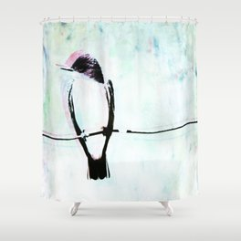 In Open Pasture's Kingbird Sings Shower Curtain