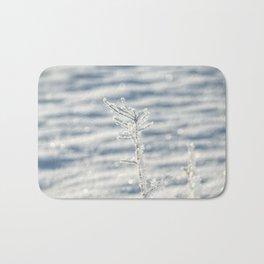Sparkling Scandi hoar frost Bath Mat