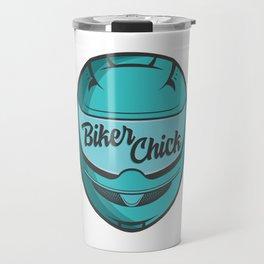 Biker Chick - Teal Travel Mug