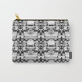 Modern Bohemian Black and White Pattern Carry-All Pouch