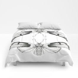 Hand Drawn Moth Print Comforters