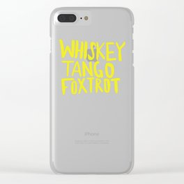 Whiskey Tango Foxtrot - Color Edition Clear iPhone Case