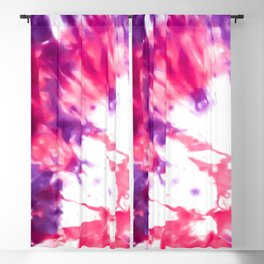 Modern Artsy Abstract Neon Pink Purple Tie Dye Blackout Curtain