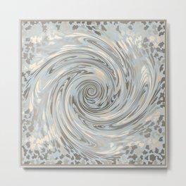 GRAY SAFARI FLOW Metal Print
