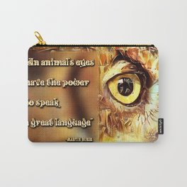 An Animal's Eyes Carry-All Pouch