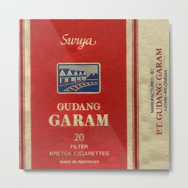 Surya - Vintage Cigarette Metal Print