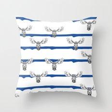 Moose Wallpaper Throw Pillow