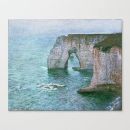 Claude Monet, French, 1840-1926 Manne-Porte, Etretat Canvas Print