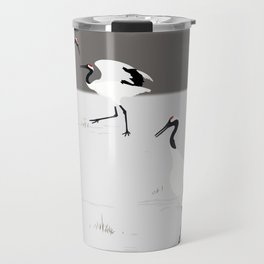 Red crowned Crane Travel Mug