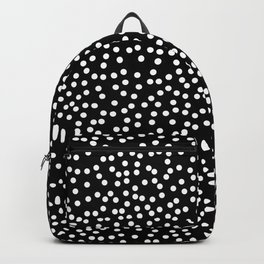 Black and White Polka Dot Pattern Backpack