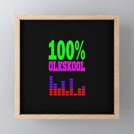 100% oldskool music logo Framed Mini Art Print