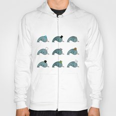 The many hats of Narwhals Hoody