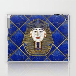 Marble & Gold pharaoh on Lapis Lazuli Laptop & iPad Skin