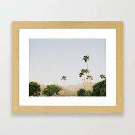 sunrise in the palm desert Framed Art Print