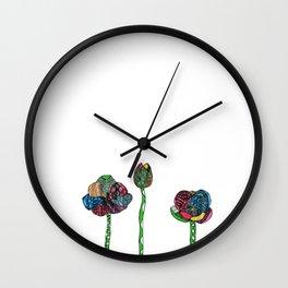 Graphic tulips Wall Clock