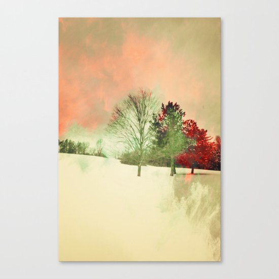 Winter Settlement Canvas Print