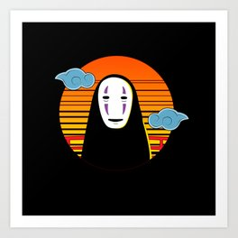 No Face a Lonely Spirit Art Print