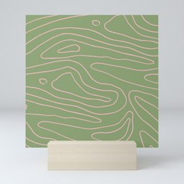 green swirl Mini Art Print