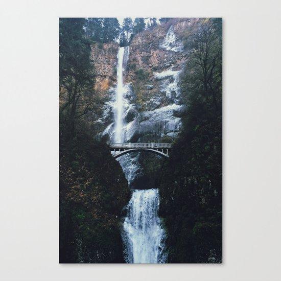 WINTER FALLS - landscape photography Canvas Print