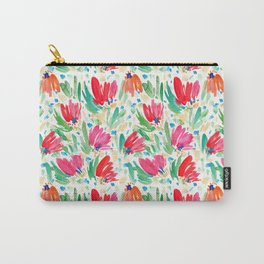 Abstract watercolour floral pattern Carry-All Pouch