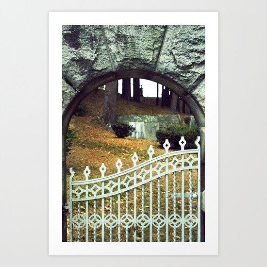 Cemetery Gate Art Print