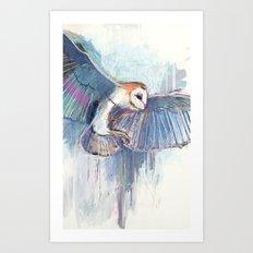 Broken Owl Art Print