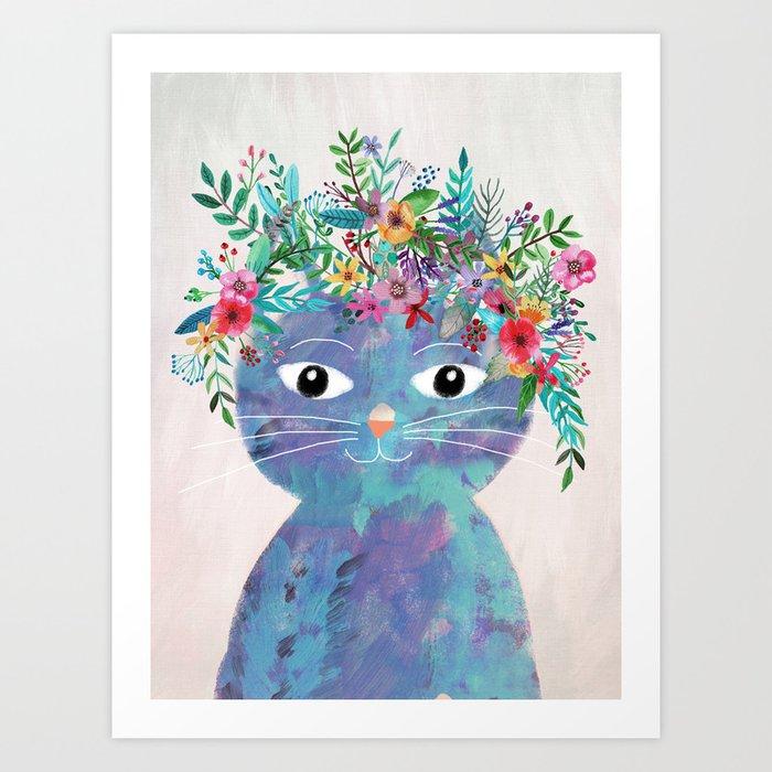 Flower cat II Kunstdrucke