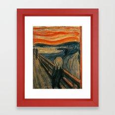 The Scream - Edvard Munch Framed Art Print