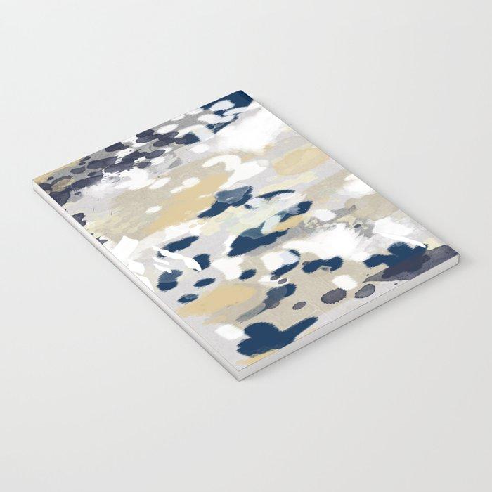 Nigel - Abstract art painting brushstrokes free spirt dorm college masculine feminine art print cali Notebook
