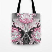 geode Tote Bags featuring Geode 3 by michiko_design