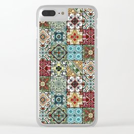 Colorful Spanish Tiles Clear iPhone Case