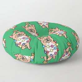 French Bulldog Merry Christmas Floor Pillow