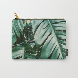 Vintage Green Palm Tree Plant - Carry-All Pouch