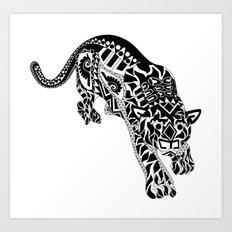 Señor Jaguar Art Print