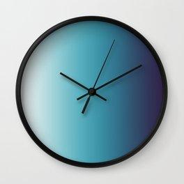 Blue White Gradient Wall Clock