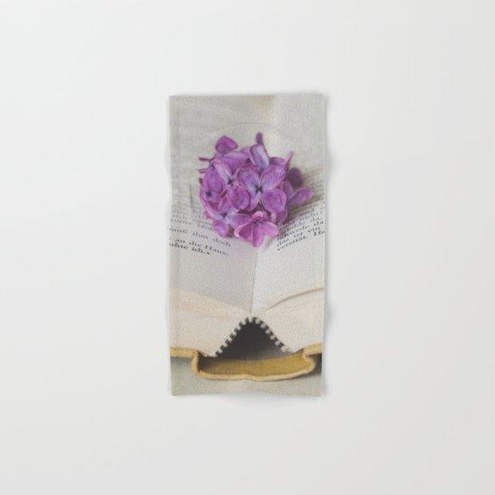 Lilac Bookmark II Hand & Bath Towel