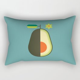 Fruit: Avocado Rectangular Pillow