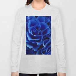 Blue Roses Flowers Plant Romance Long Sleeve T-shirt