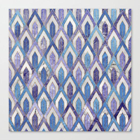 Art Deco Marble Pattern III. Canvas Print