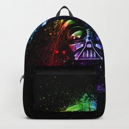 Darth Vader Helmet StarWars Art - Digital Splash Painting Backpack