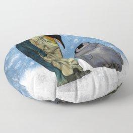 Emperor Penguins Floor Pillow