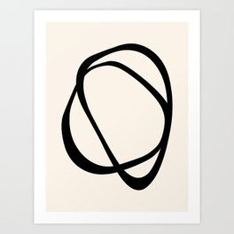 Interlocking Two CB – Minimalist Line Abstract Art Print