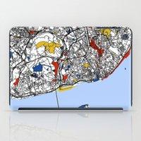 mondrian iPad Cases featuring Lisbon mondrian by Mondrian Maps