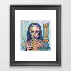Mona Lisa Overdrive Framed Art Print
