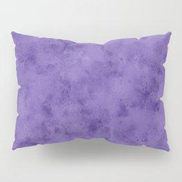 Watercolor Splattering in Ultra Violet (2018 Pantone color) Pillow Sham