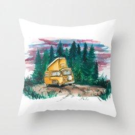 Van life Throw Pillow